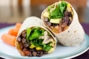 Black Bean and Walnut Wraps