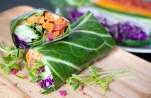 Rainbow Collard Greens Wrap