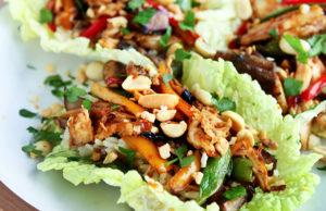 Restaurant-Style Chicken Lettuce Wraps