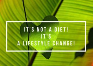 Lifestyle change to lose weight
